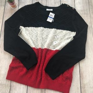 Charter Club Color Block Knit Sweater XL